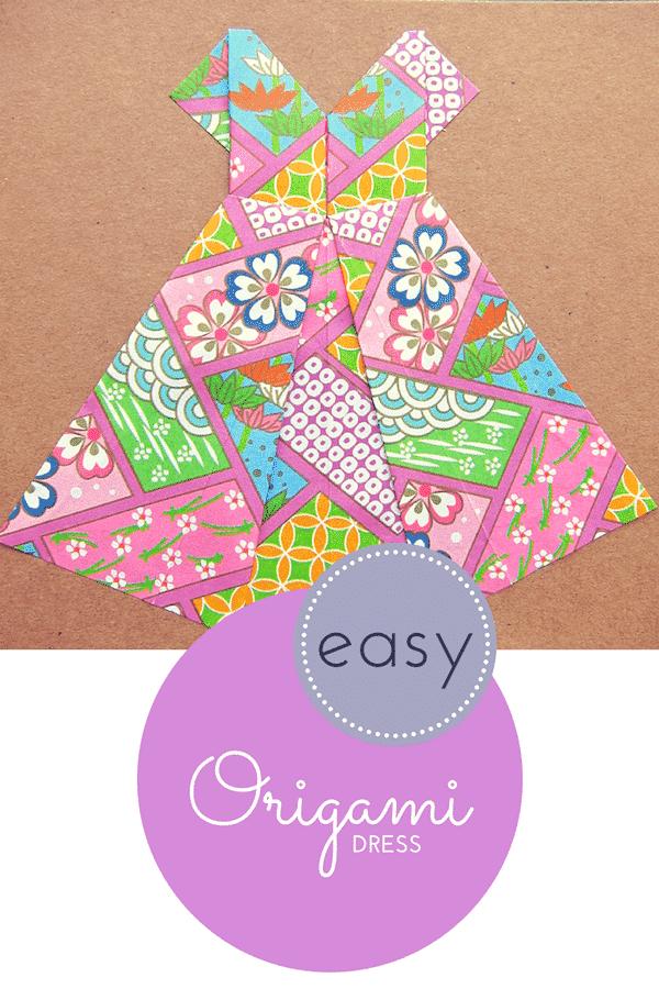 easy origami dress tutorial