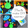 How to make DIY fuzzy felt