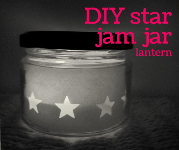 diy star jam jar lantern FB
