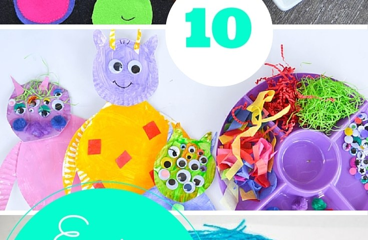 10 monster & alien crafts for kids