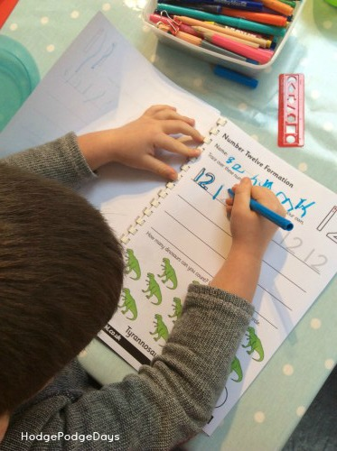 Writing letters and numbers