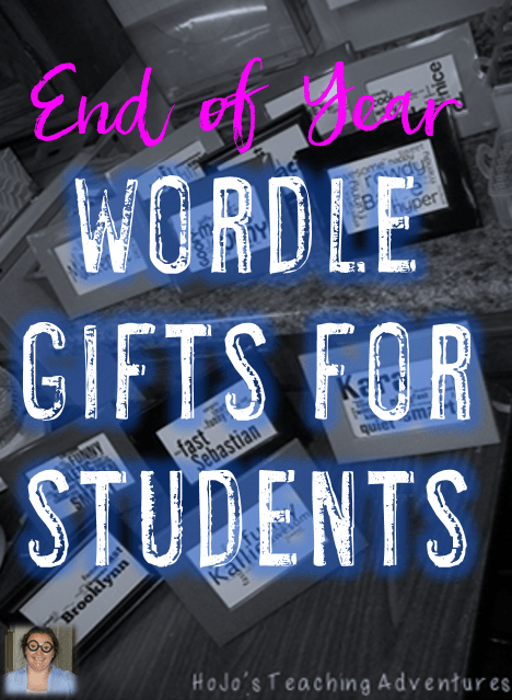 End of Year Wordle Gift for Students
