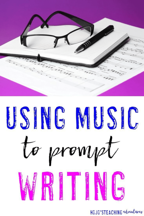Need a different writing activity? Use music as a writing prompt with ANY grade level - K-12! Students will love this activity because they love music!
