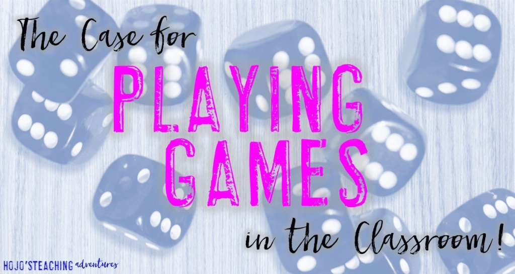 Do you worry that your principal will walk into the room and see your students playing games? Here are seven reasons playing games in elementary classrooms is a GOOD THING! Click through to learn more (and then show this list to your administrator!). Great for your preschool, Kindergarten, 1st, 2nd, 3rd, 4th, 5th, and 6th grade classroom!
