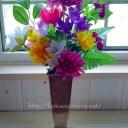 お墓に供える造花