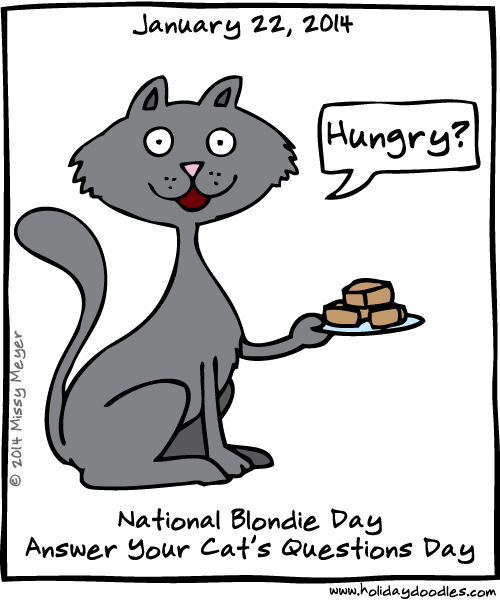 Holiday Doodles » January 22, 2014: National Blondie Day
