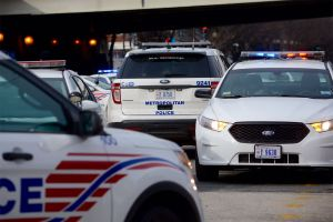D.C. police cars are seen in this February 2016 WTOP file photo. (WTOP/Dave Dildine)