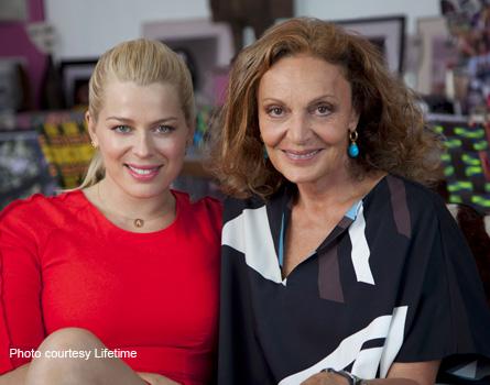 Amanda de Cadenet (L) with Diane Von Furstenberg.