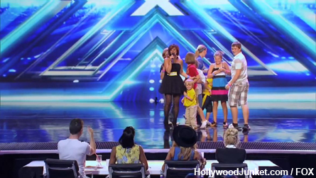 Memorable X FACTOR Moment - Victoria's 8 kids rushed the stage!