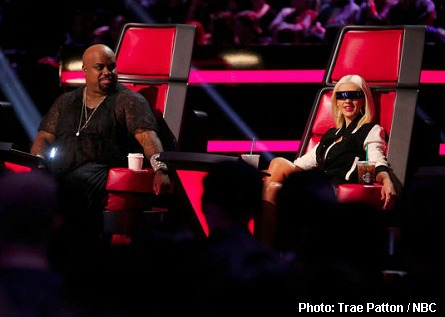 Christina, CeeLo glasses