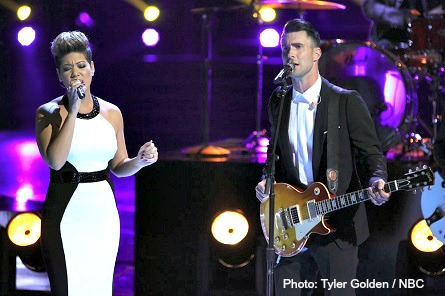 THE VOICE Tessanne Chin, Adam Levine