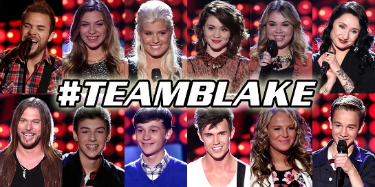 Team Blake on THE VOICE Season 7