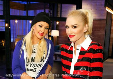 Pictured (l-r): Christina Aguilera, Gwen Stefani
