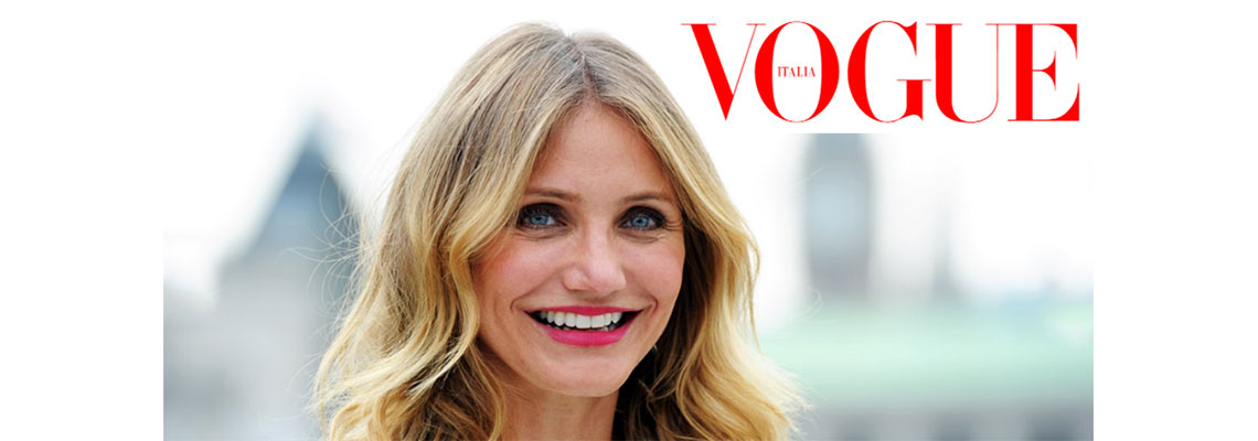 Cameron Diaz on her new book, healthy living, but on her wedding&#8230;</br>Vogue Italia