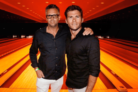Founder of treats! Magazine, Steve Shaw(L) with actor Scott Eastwood(R) at the Treats! Magazine Issue 11 release party in Miami Beach.