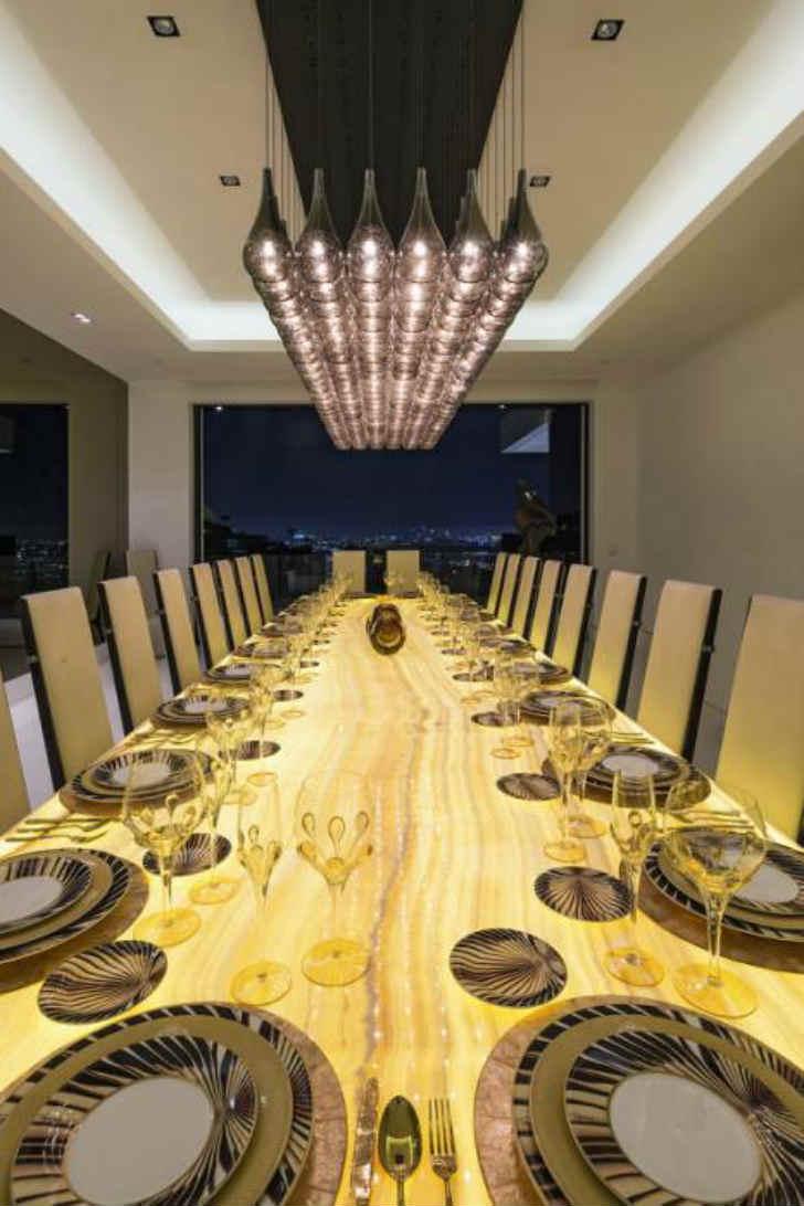 豪邸 インテリア リビング 食卓