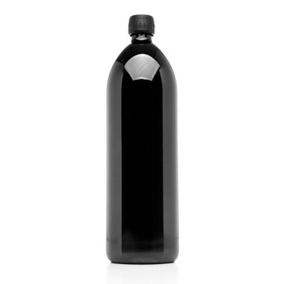 1000 ML Miron Violet Glass water bottle - Black water bottle