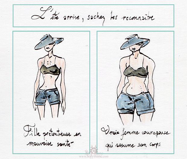 illustration corps femme