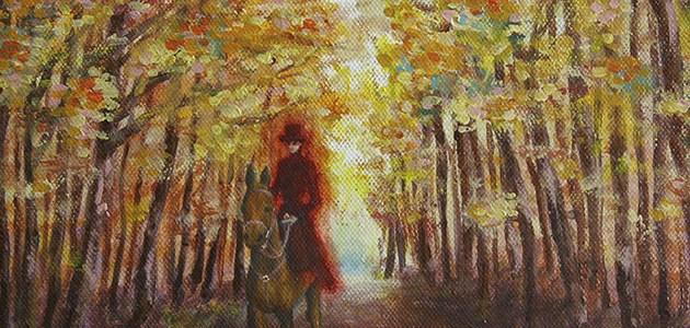 Peinture à l'huile – «Cavalière»