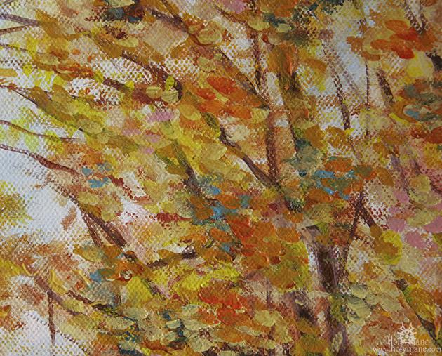 cavalière peinture à l'huile