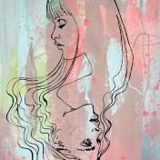 Holy Mane aquarelle dessin