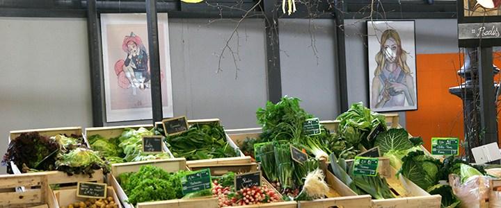 Exposition au marché couvert d'Epinal