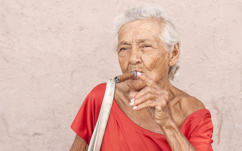 portret lady in rd cuba