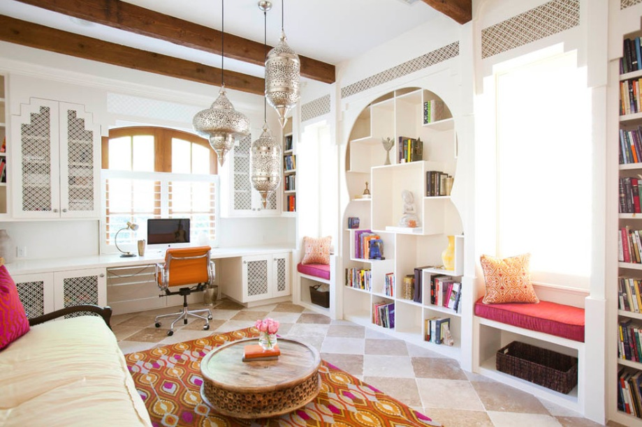 This Moroccan-style home certainly reflects the owners culture and roots.
