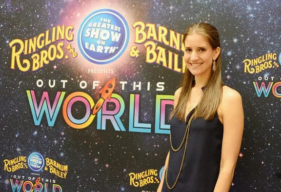 Wendy Alexander/The Madera Tribune Alana Feld, Producer and Executive Vice President of Feld Entertainment and producer of Ringling Bros. and Barnum & Bailey's presentation of Out of This World attends the very first opening night of this particular production at Selland Arena Thursday evening.
