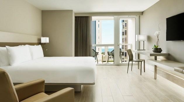 AC Hotel San Juan Condado Guestroom King Partial Ocean View 1