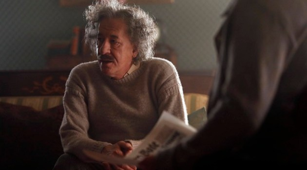 PRAGUE - Geoffrey Rush plays Albert Einstein in National Geographic's Genius. (Photo Credit: National Geographic/Dusan Martincek)