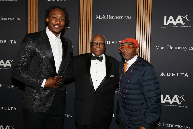Brandon Marshall, Spike Lee & Herb Douglas on Red Carpet