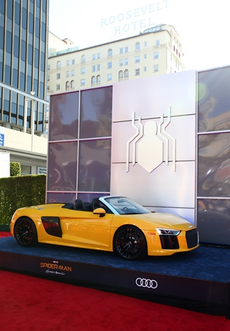 HOLLYWOOD, CA - JUNE 28: Audi R8 Spyder at the World Premiere of 'Spider-Man: Homecoming' hosted by Audi at TCL Chinese Theatre on June 28, 2017 in Hollywood, California. (Photo by Joe Scarnici/Getty Images for Audi)