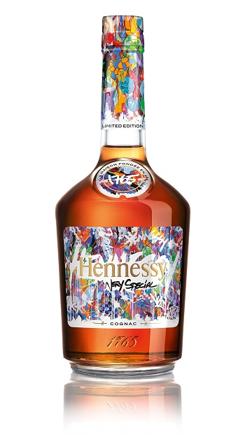 Hennessy launch party for JonOne Limited Edition bottle design - for HOMBRE Magazine 25