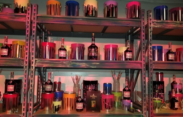 Hennessy launch party for JonOne Limited Edition bottle design - for HOMBRE Magazine 3