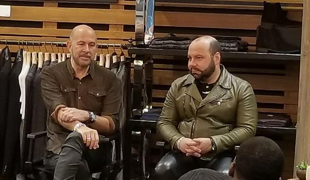 John Varvatos with Artisan Pure fragrance creator Rodrigo Flores-Roux