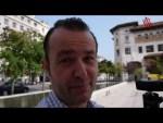 Santander, comiendo en una terraza frente a la Catedral