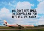 No necesitas magia para desaparecer, sólo necesitas un destino
