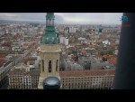 Subiendo a la torre del Pilar de Zaragoza