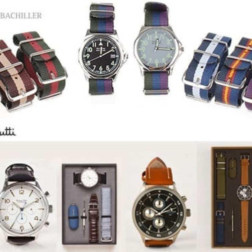Relojes con pulseras intercambiables