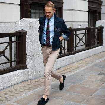 moda en la calle, cazadora denim (2)