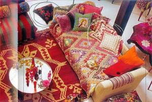 этнический интерьер декоративные подушки