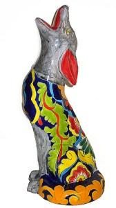 статуэтка собачки с мексиканской росписью