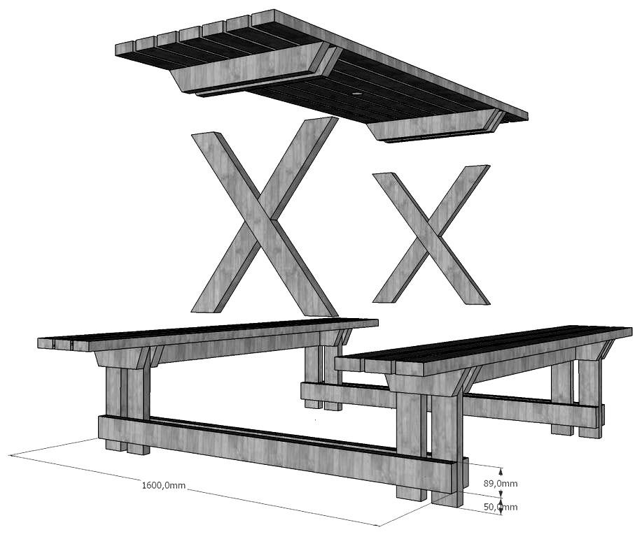 Садовые столы и скамейки своими руками из металла
