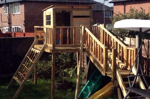 Детская площадка форт 1