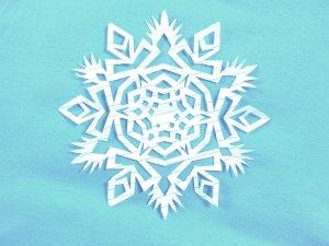 красивая снежинка схема