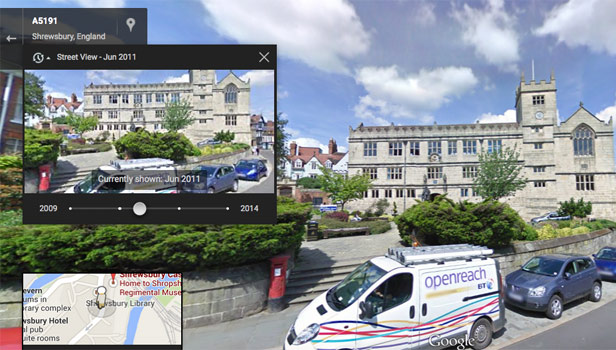 Travel back in time with Google Street View   BT Google Street View   Shrewsbury past and present