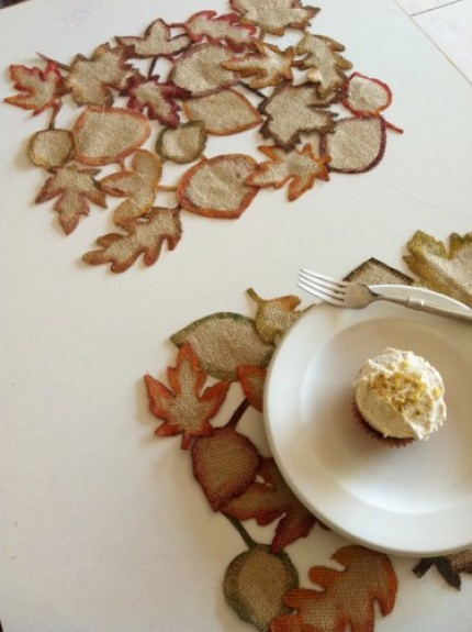 Burlap Leaf Placemats