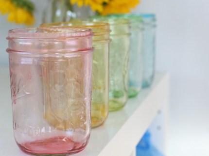 Rainbow Mason Jars