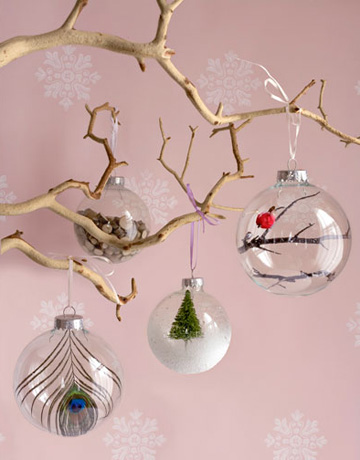 Dressed Up Glass Ornaments